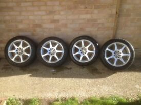 4 BK Racing 15 inch alloy wheels with good tyres