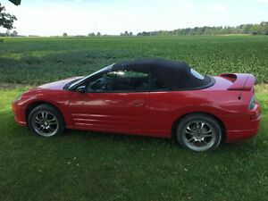 2001 Mitsubishi Eclipse Red Convertible