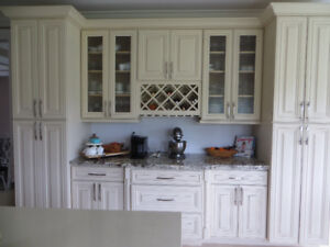 USED KITCHEN CABINETS FOR SALE - SOLID MAPLE WOOD