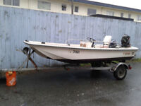 13.5' Coho with motor and trailer