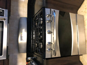 GE Profile stainless steel Natural Gas range/stove