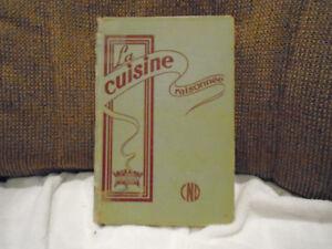 ancien livre de recette la cuisine raisonnée 1961