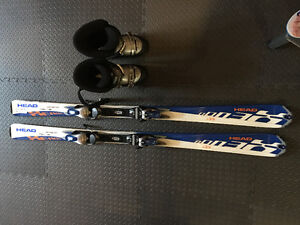 Men's ski and boots
