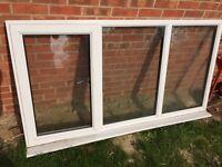 Used White PVC double glazed window