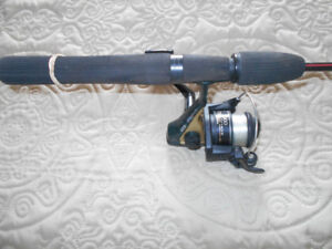Canne moulinet a truite mouchtee, Fishing rod and reel