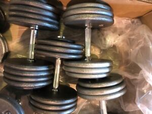 Steel Plate Dumbbells for sale - Various weights from 50-100 lbs