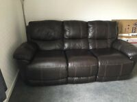 2x 3 Seater double recliners