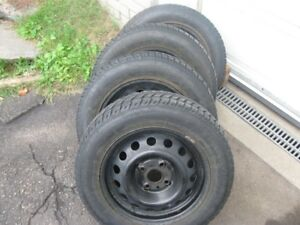 "HYUNDAI ACCENT SNOW TIRES & RIMS PKG 175/70R14"" ON 4X100 BOLT"