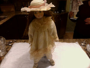Collectable Porcelain Dolls with stands Kingston Kingston Area image 1