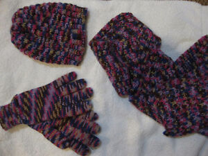 NEW KNIT HAT, GLOVES, SCARF COMBO