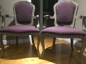 Purple Antique Accent Chairs