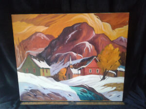 """Canadian Quebec Artist R. Breton oil/acrylic 20""""x24"""""""