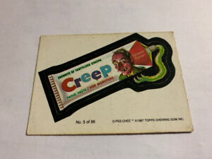 1987 O-Pee-Chee OPC WACKY PACKAGES #5 OF 66 CREEP FANG PASTE