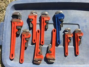 9 Ridged Pipe Wrenches