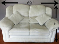 Sofa and Loveseat Fauteuil Set.  Very Soft Ice Color FREE