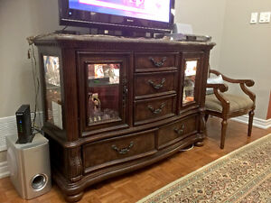 Traditional Server & Entertainment TV Stand