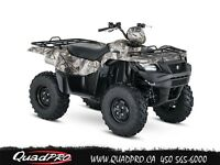 2016 Suzuki KINGQUAD 750AXI POWER STEERING CAMO 39,60$/SEMAINE