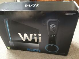 Wii console black NO CONTROLLER OR GAMES