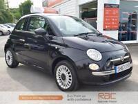 FIAT 500 LOUNGE, Black, Manual, Petrol, 2013