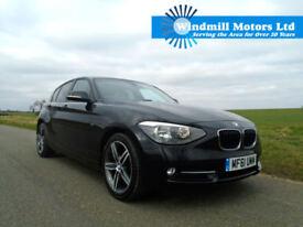 2011/61 BMW 1 SERIES 2.0 118D SPORT 5DR BLACK - NEW SHAPE - £30 TAX