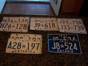 YOM) License Plate Pairs for your Classic Car or Truck $45 pair