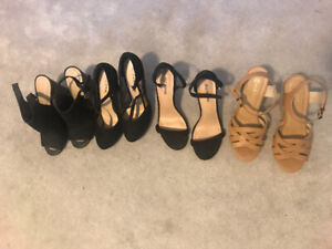 High heels and wedges lightly worn!!