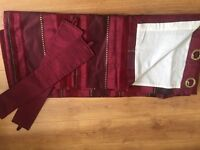 Heavy lined tab top curtains