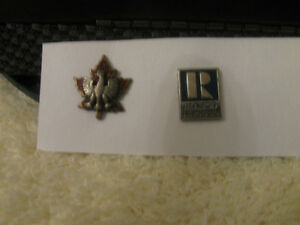 TWO VINTAGE INTERESTING LAPEL PIN COLLECTIBLES