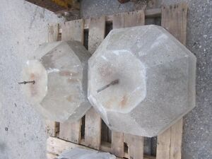 "Decorative Concrete Bases - 8 sided - 2' bottom - 12"" top London Ontario image 2"
