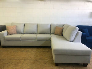 ~BRAND NEW CANADIAN MADE LIGHT GREY SECTIONAL~