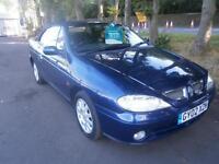 Renault Megane 1.6 16v 2002MY Dynamique + convertable in Blue