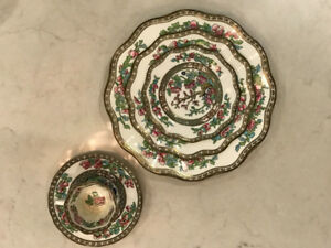 COALPORT China set, Indian Tree Multicolour Scalloped Collectibl