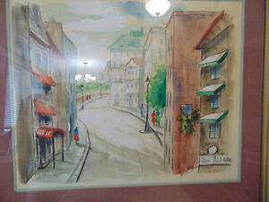 2 Beautiful paintings 1 Water colour and 1 oil painting London Ontario image 2