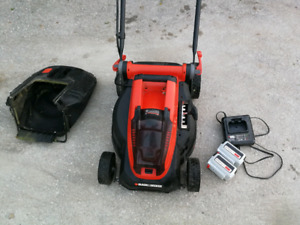 "Battery powered Cordless black & decker 16"" electric lawn mower"