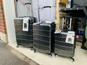 Air Canada 3 Piece Hardside Spinner Upright Luggage Set