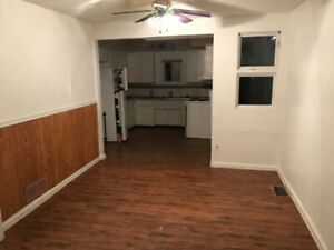 2 bedroom house.  Large living room and dining room.