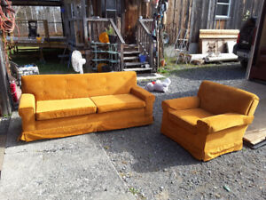 Retro couch and chair