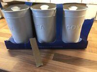 Aldi tea coffee sugar canisters