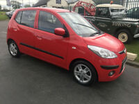 11 HYUNDAI i10 1.2 STYLE 5 DOOR 51000 MILES RED FULLY SERVICED FULL MOT