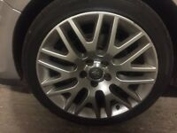 "Alloys Wheels 18"" 225/40/18 with nearly new tyres"