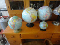 Small. Medium &Full Size World Globes D249