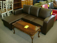New sofa with lounger. Was $699. Now on Sale $499. WOW!