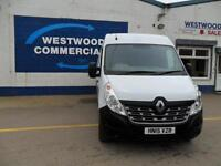 RENAULT MASTER 2.3DCI LM35 125PS BUSINESS 6SPD LWB MED/ROOF DIESEL WHITE 15REG