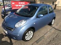 2007 (57) NISSAN MICRA 1.2, 1 YEAR MOT, WARRANTY, NOT CORSA CLIO 207 POLO PUNTO