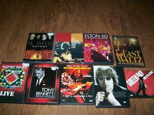 9 dvd concerts in excellent condition