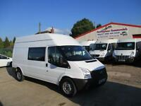 13 reg FORD TRANSIT T350 LWB CREW, MESS, WELFARE, MESSING TOILET VAN 26k ONLY