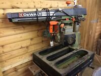 Dewalt 125 Powershop Radial arm saw woodwork tools