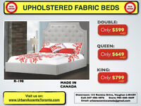 UPHOLSTERED BEDS HUGE SELECTION BEST PRICES IN TORONTO BRAND NEW