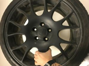 Winter Tires 5x112 bbs wheels with 225/40/18 Winter tires still