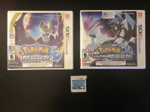 Pokemon 3DS Moon, Ultra Moon, and Alpha Sapphire Games